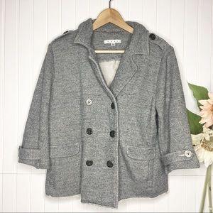 CAbi | Shrunken Pea Coat Sweatshirt